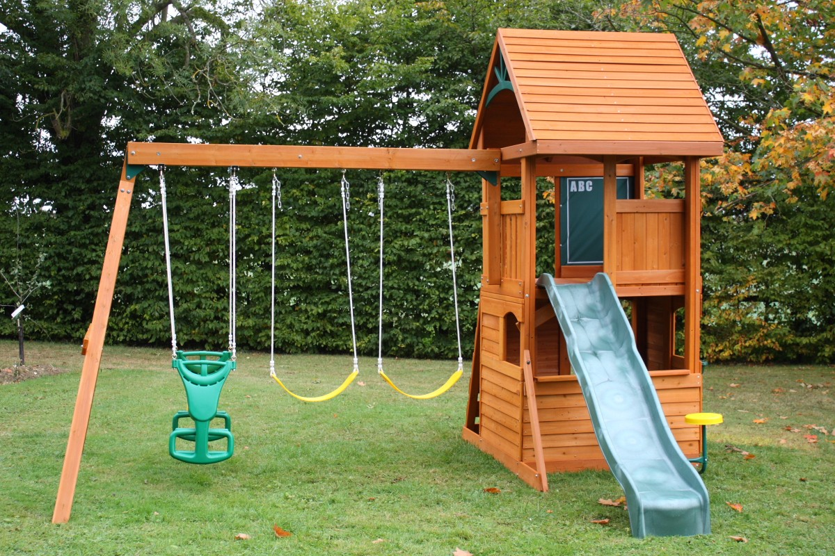 Build your own swing set trucks cars for Building a wooden swing